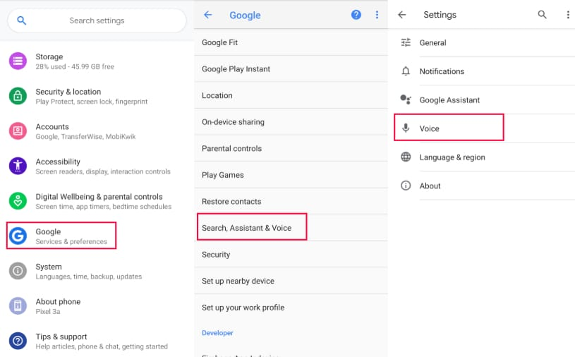 how to disable google voice on android