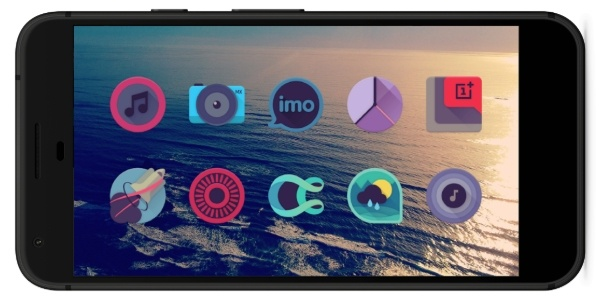 Best Nova Launcher Themes and Icon Packs Viral: Dark Pastel