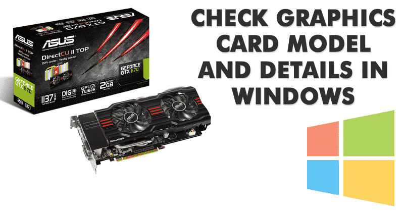How to check computer graphics card