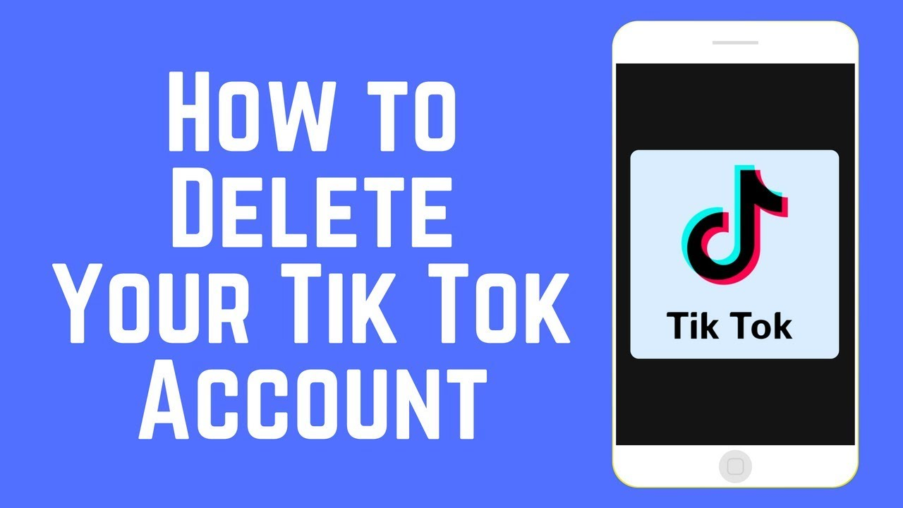 how to delete tiktok account without password