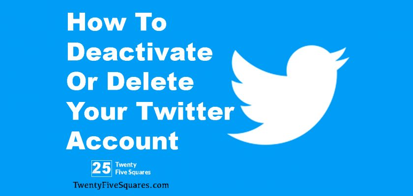 How To Deactivate Or Delete Your Twitter Account