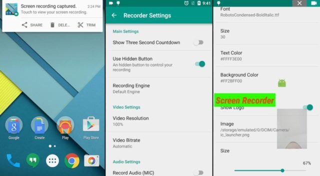 game screen recorder android