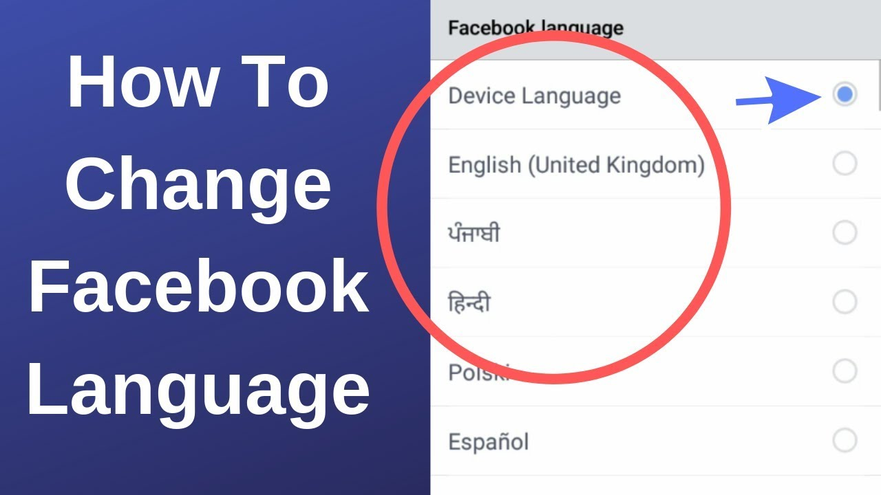 Change The Language On Facebook