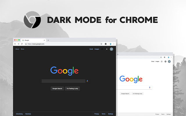 google chrome canary dark mode