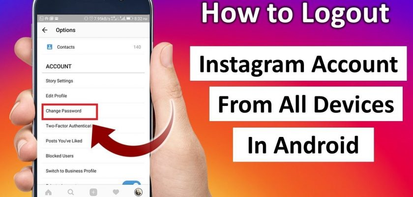 log out of all devices instagram