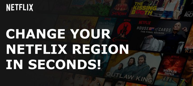 change the Netflix region