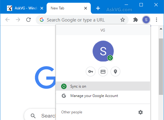 remove a google account from chrome
