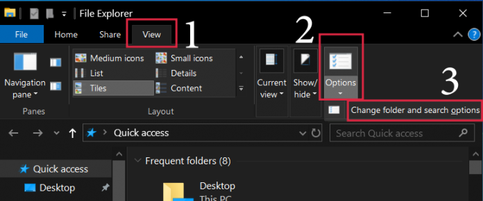 search for hidden files windows 10