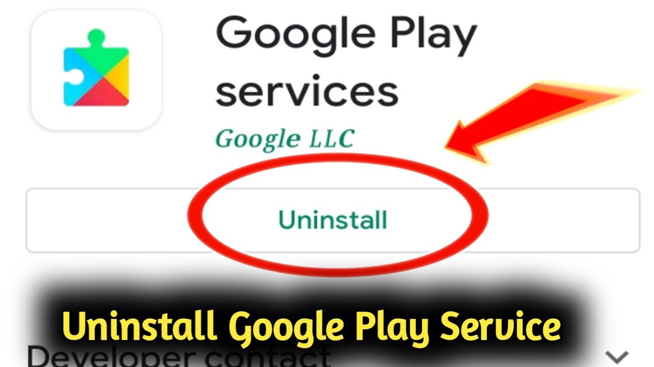 uninstall google play services
